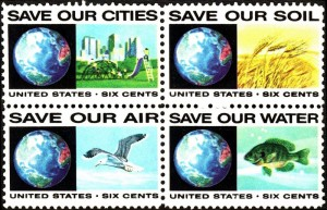 US postage stamps with the conservation message