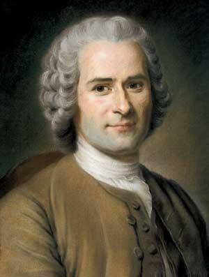 A portrait of Jean-Jacques Rousseau
