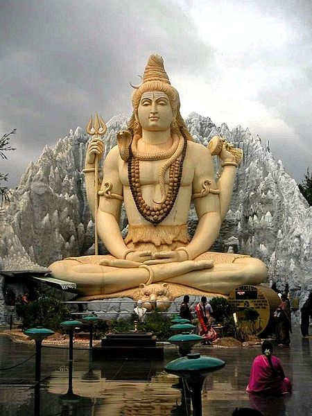 A statue of Lord Shiva in meditation