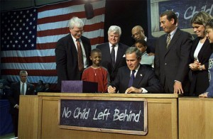 George W. Bush signing the No Child Left Behind Act